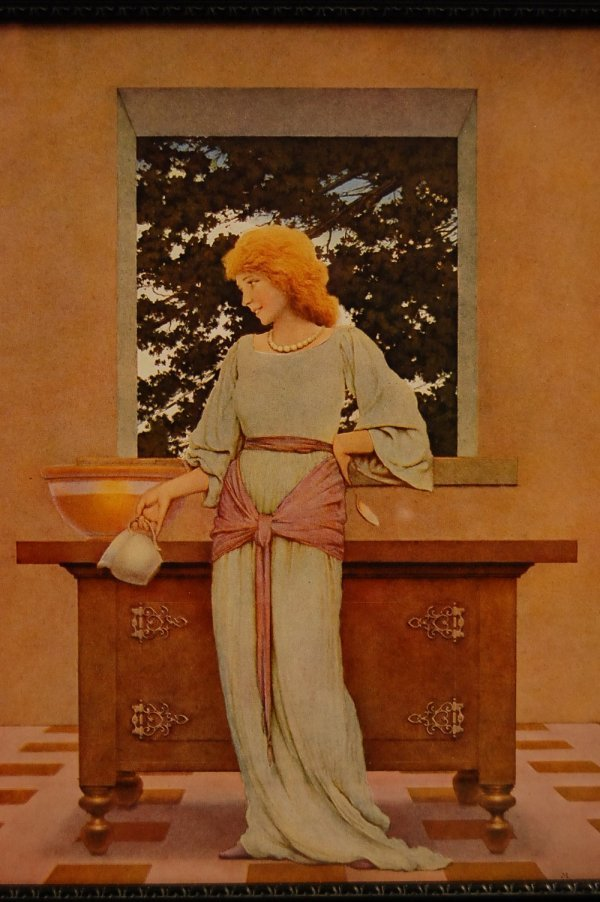 """12: """"Violetta Holding Pitcher"""" Maxfield Parrish Knave o"""