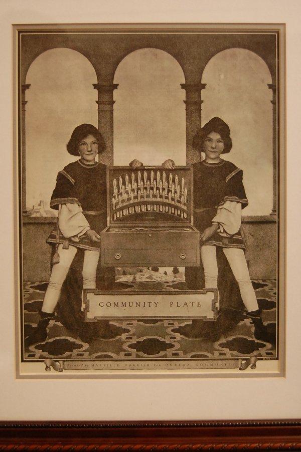 "15: ""Community Plate"" Maxfield Parrish Saturday Evening"
