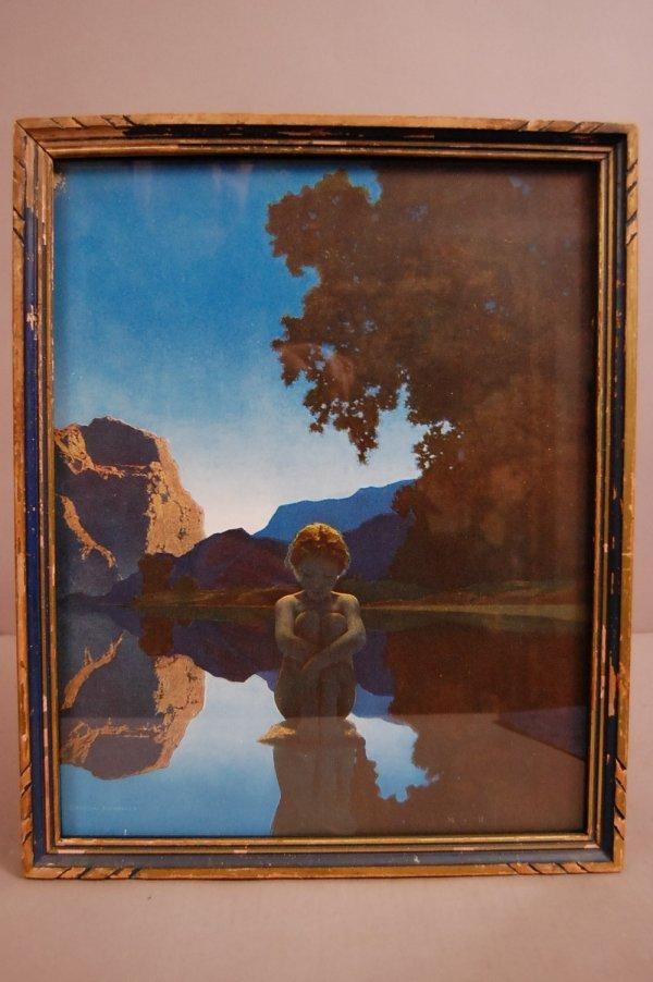 """16: """"Evening"""" Maxfield Parrish Artist Print Framed 12""""w"""