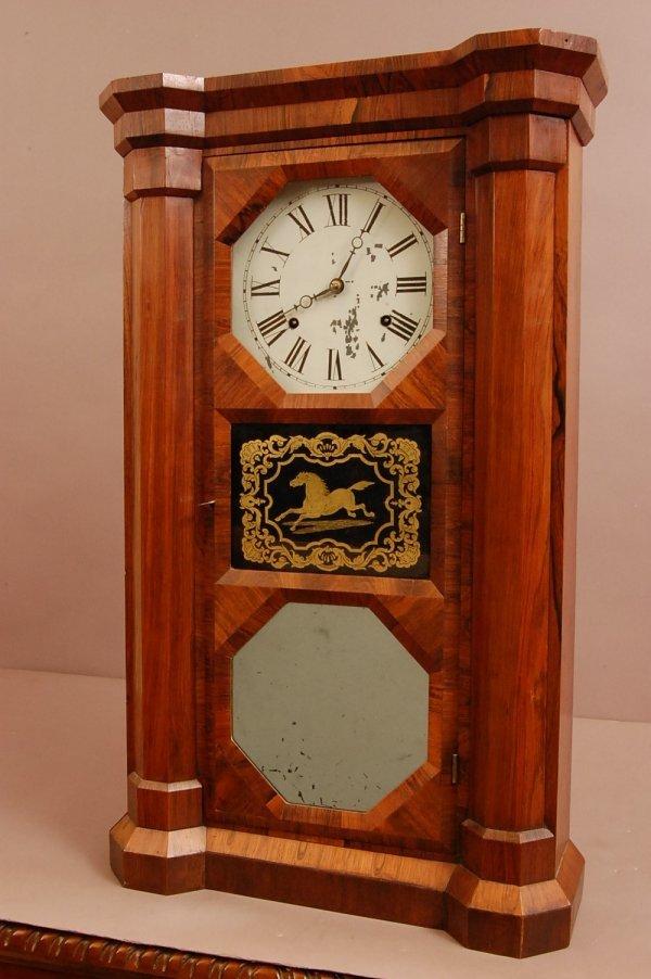 17: Early Seth Thomas 2 weight shelf clock, Eight Day M