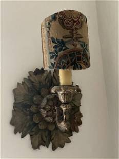 Pair of Italian Hand Carved & Painted Wall Sconces