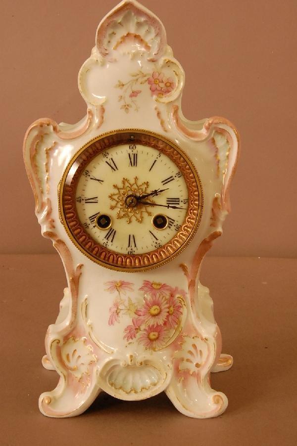 6: French Porcelain Shelf Clock