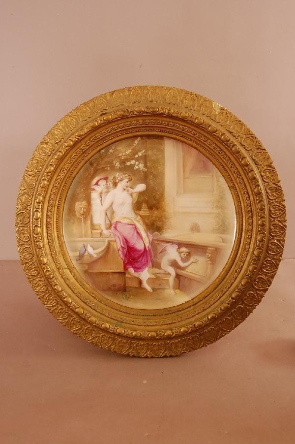 "125: 14"" Porcelain Plaque Beehive Mark"