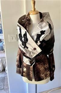 Exceptional Prada Fall Pattern Silk Blouse