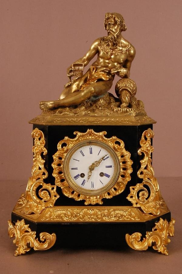 3: Dore Bronze French Mantle Clock