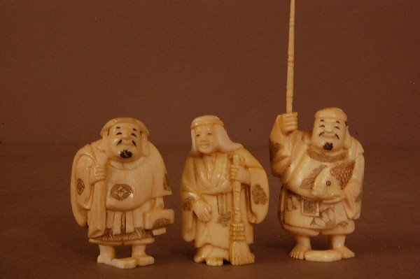 9: Carved Ivory Figures