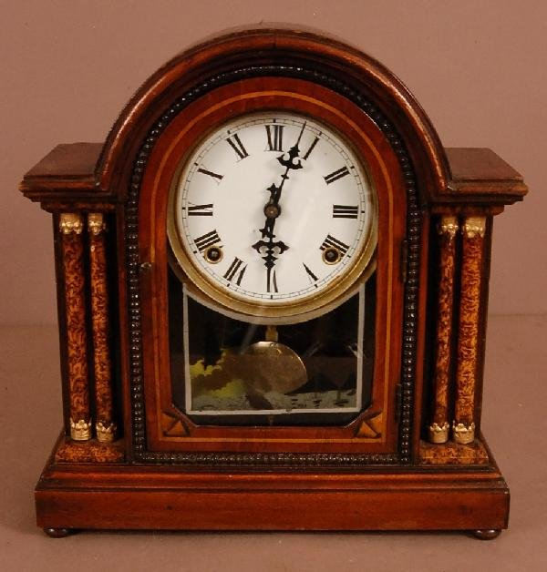 24: Victorian Walnut Shelf Clock
