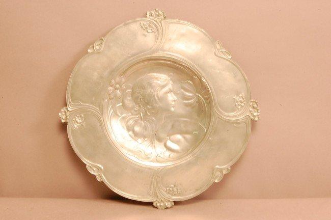 5A: Art Noveau Silver Bowl Signed WMF Ca. 1910