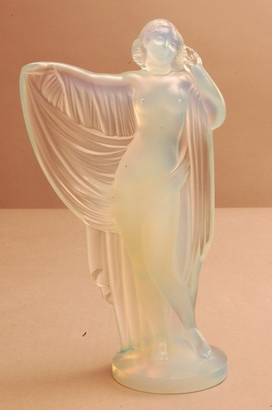 18: Sabino Art Glass Nude.  Art Deco style. Signed Sabi