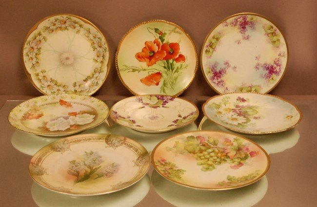 23: 8 Royal Rudolstadt Floral Decorated Plates.   Signe