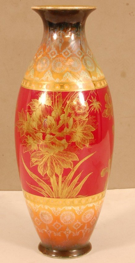 1: Royal Bonn Floral Decorated Vase Handpainted with ra