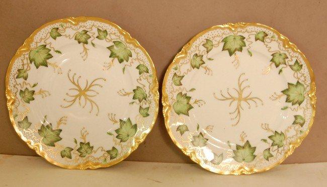 "7: Pair of Bavarian German Hand painted plates 10"" d  C"