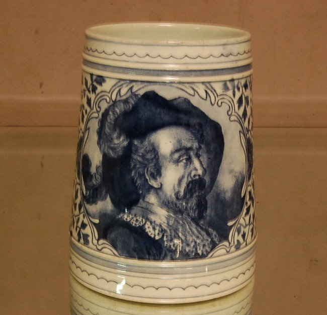 13: Royal Bonn Stein with Shakespearean Bust  Incised M
