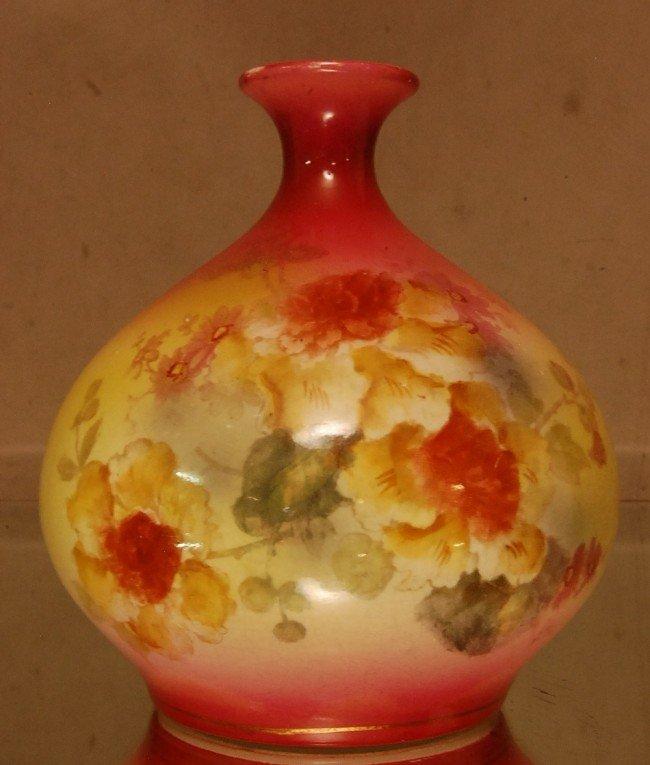 20: Royal Bonn Porcelain Nasturtium vase.  Signed Royal