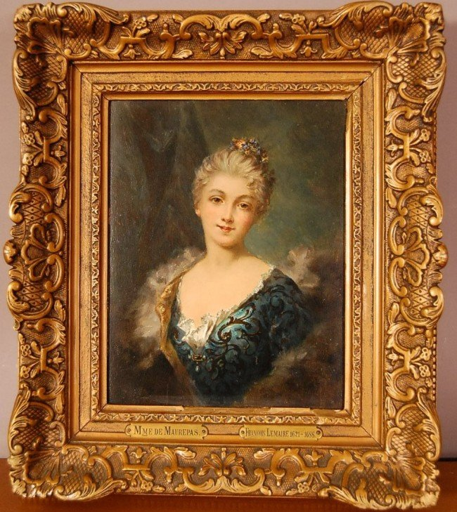 """206: """"Portrait of Lady""""  Oil on board attributed to Fra"""