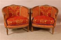 326 Pair of French Provencial style upholstered arm ch