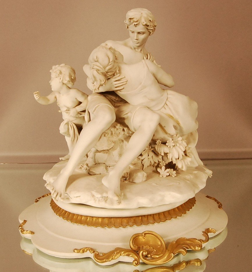 5: Capodemonte style Porcelain figural statue of man &