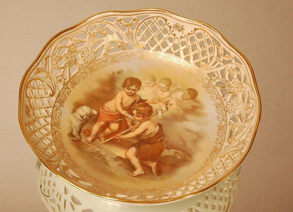 11: German Enameled Decorated Porcelain Bowl  Signed on