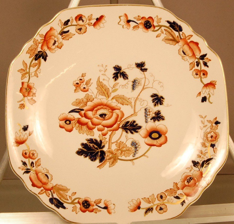 """23: """"Old Derby""""  Enoch Wedgewood hand painted plate.  S"""