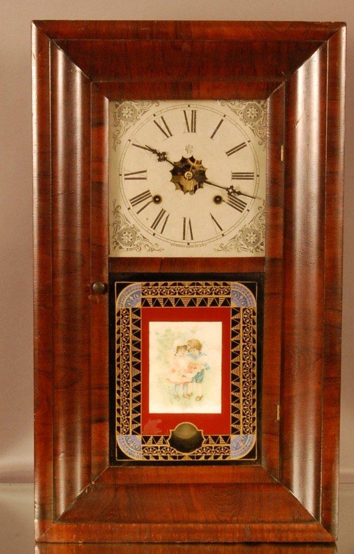 189: Early Waterbury Clock Co.  Ogee shelf clock, 2 wei