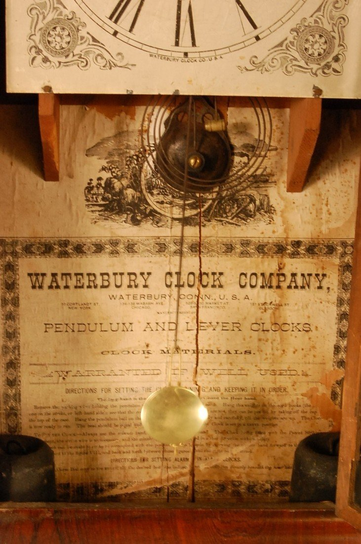189: Early Waterbury Clock Co.  Ogee shelf clock, 2 wei - 2
