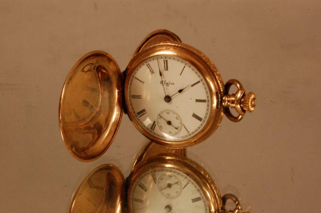 525: Ladies Elgin Hunting Case pocket watch Ca. 1900
