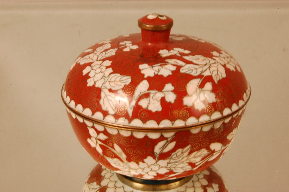 3: Cloisonne Covered Dish