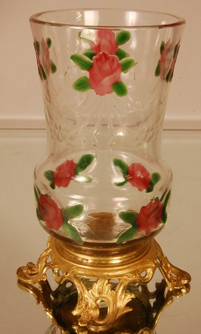 17: French Louis LXV Style Cut Glass Vase