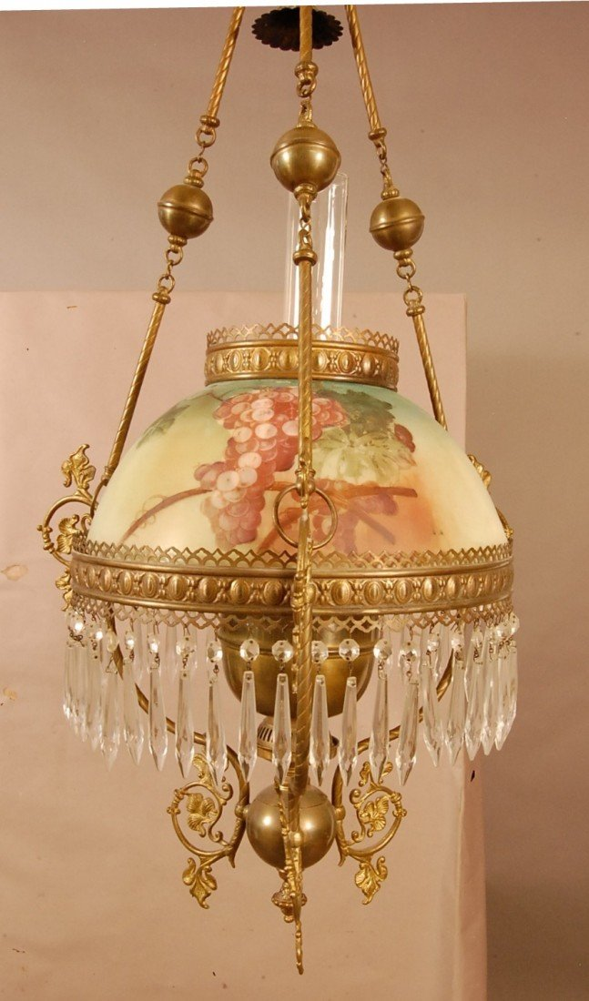 403: Victorian Hanging Parlor Lamp