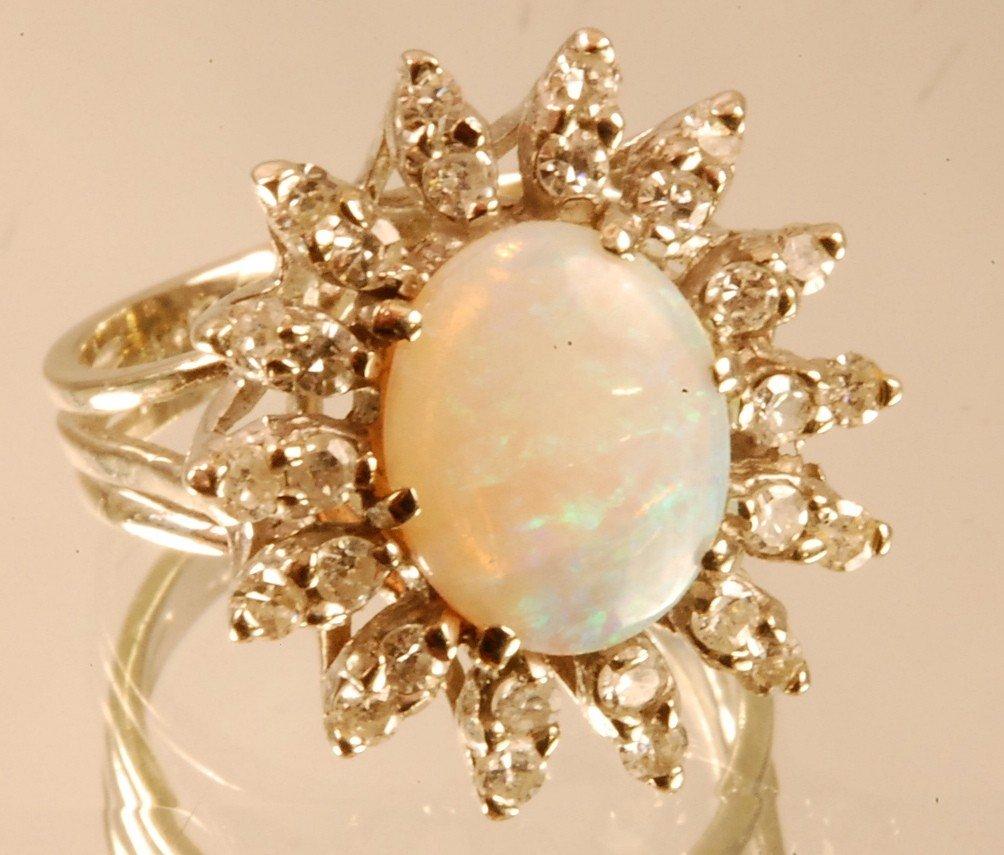 2: Ladies 14 K. White Gold Dinner Ring