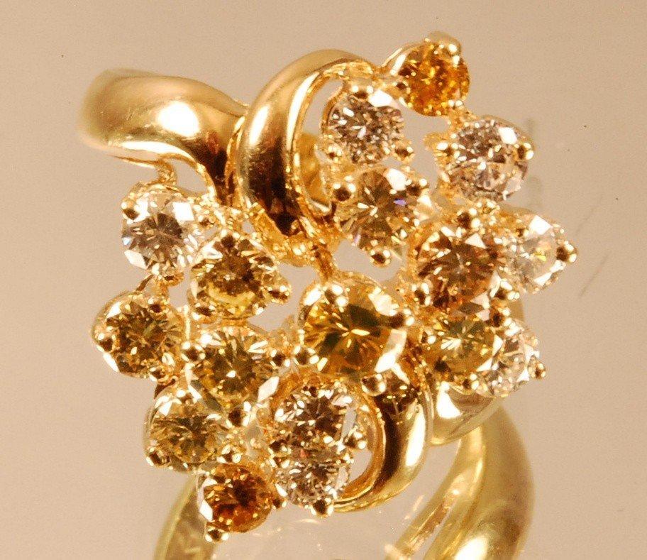 4: Ladies 14 K Yellow Gold Dinner Ring