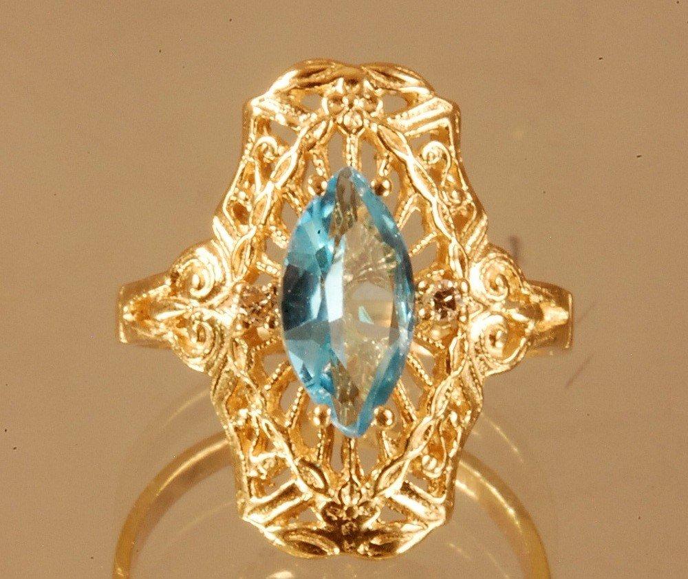19: Ladies Antique 10 K. Filigree Ring