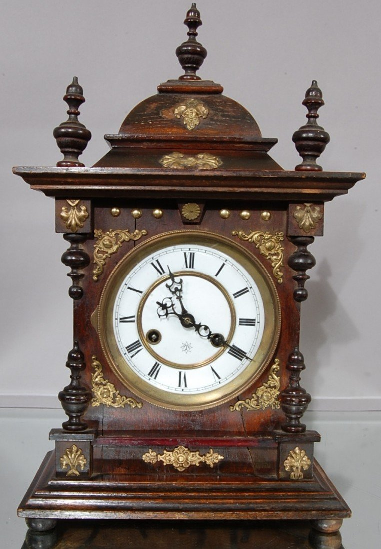 6 Junghans German Mantel Clock