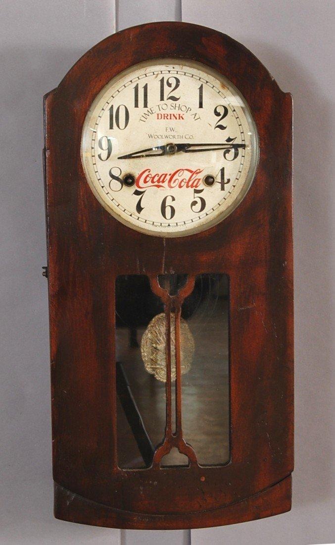 10: Coca Cola advertising wall clock.