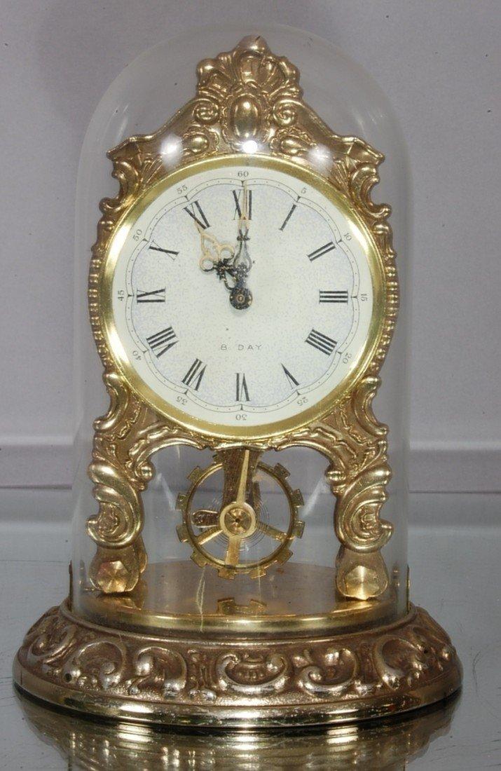11: German 8 Day shelf clock.
