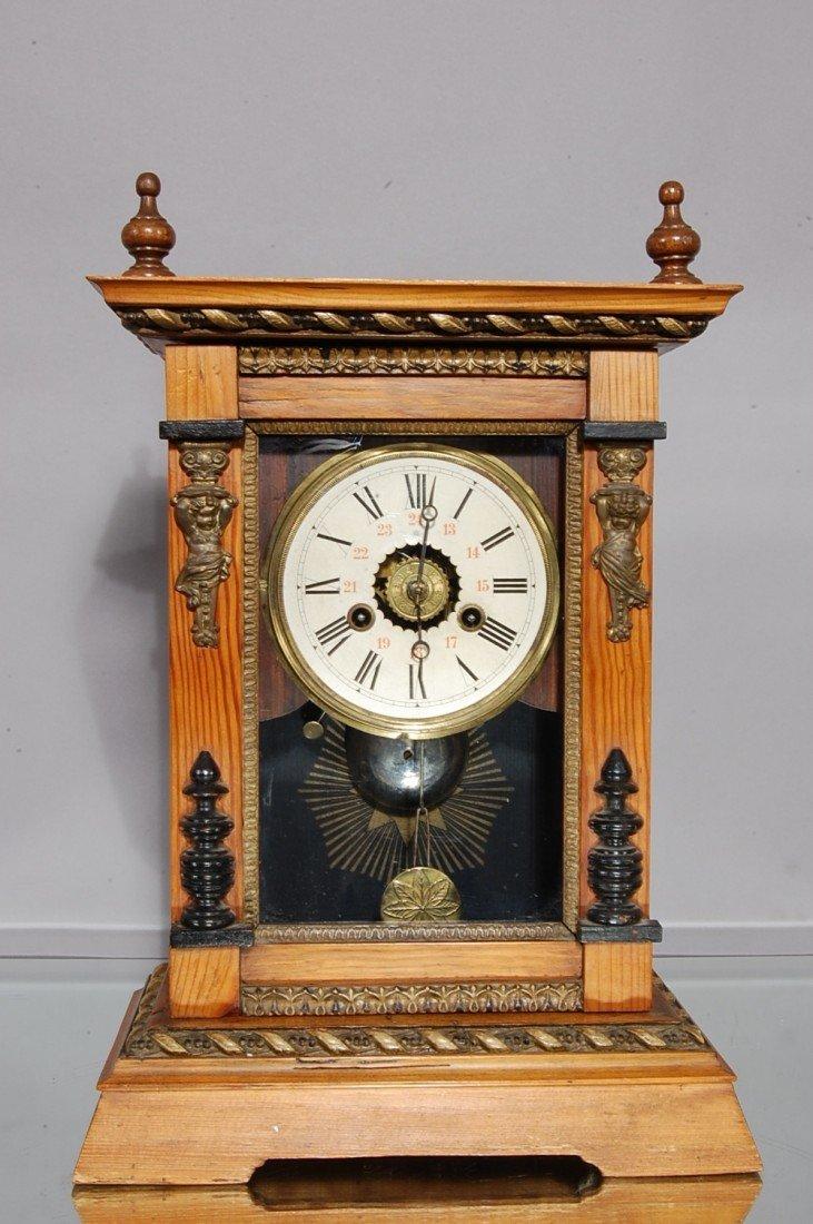 14: Junghans Victorian Pine Shelf Clock