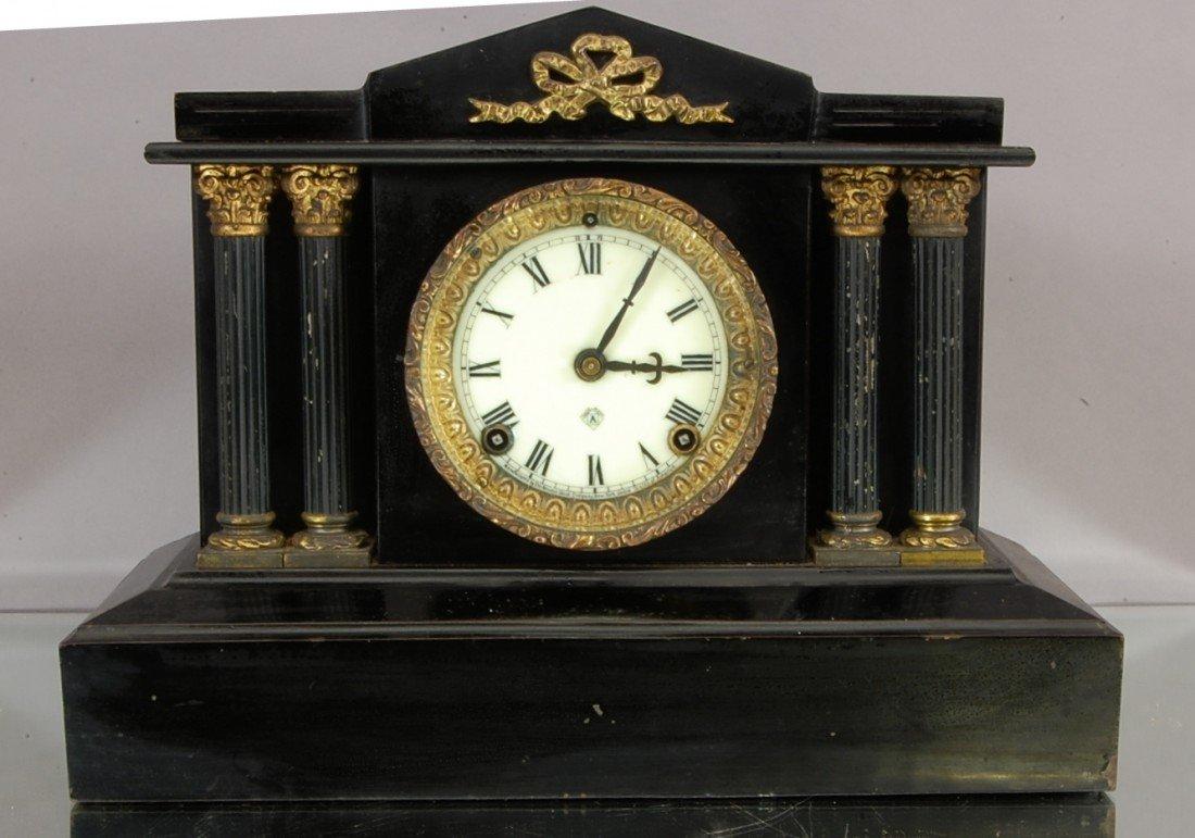 147 ansonia 4 column iron mantle clock - Mantle Clock