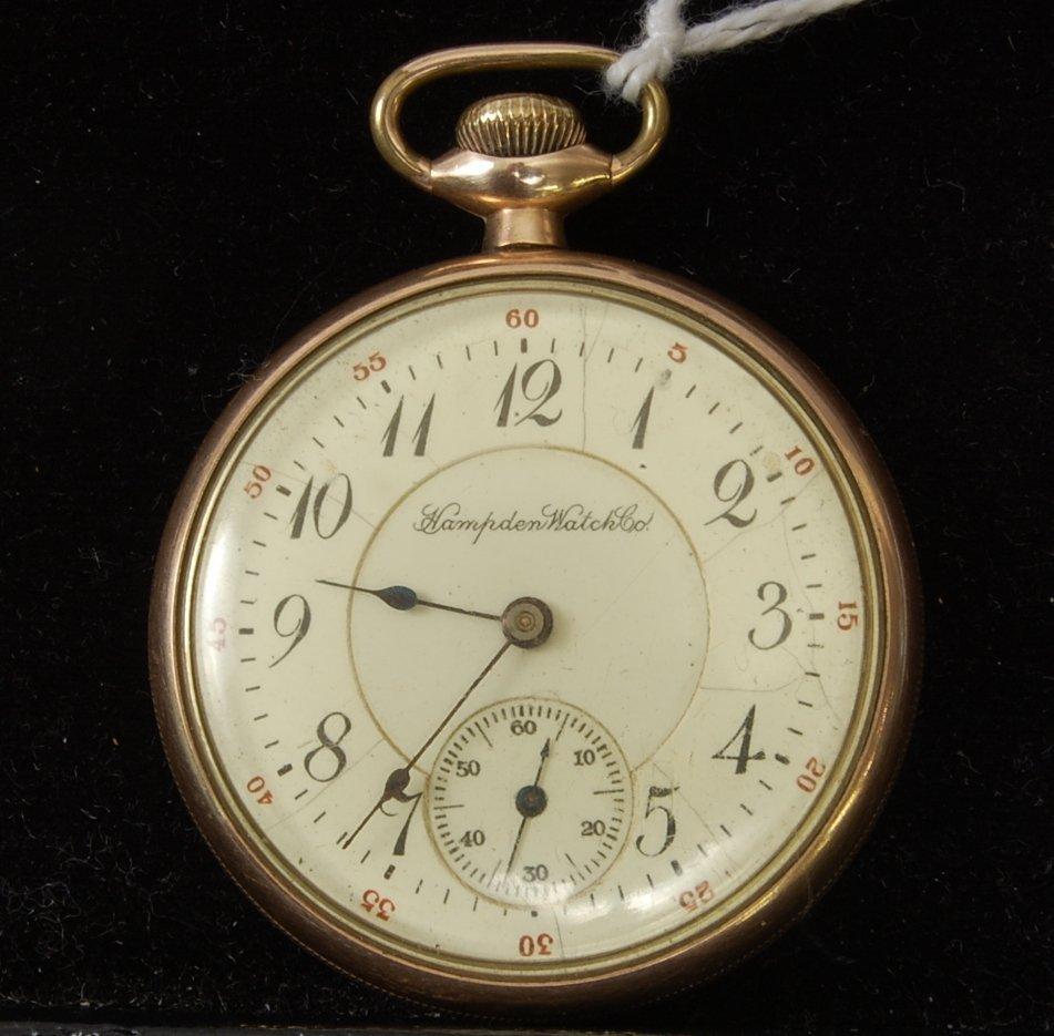 7: Hampden 17 Jewel Adjusted Pocket Watch