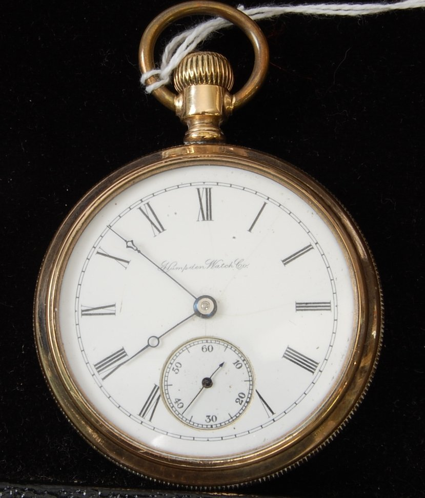 10: Hampden 15 Jewel Pocket Watch