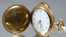 15: Elgin 15 Jewel Hunting Case Pocket Watch