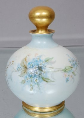 18: Limoges Hand painted perfume bottle