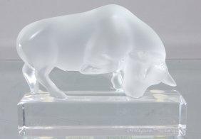 22: Lalique Bull on Base