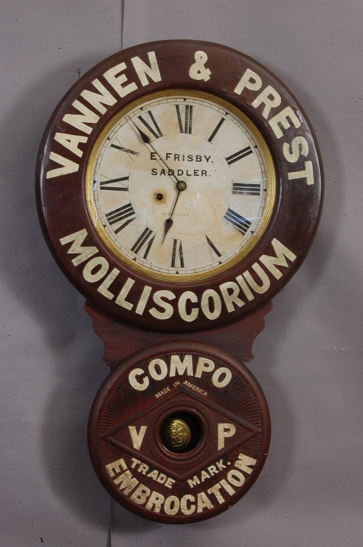 42: Vanner & Prest Molliscorium Advertising clock