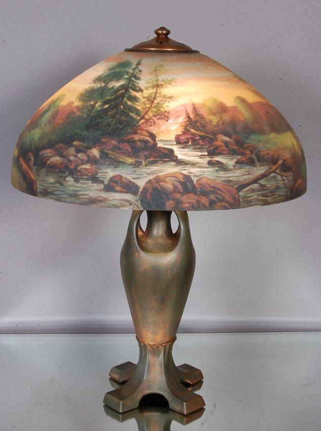 217: Handel Reverse Painted Parlor Lamp