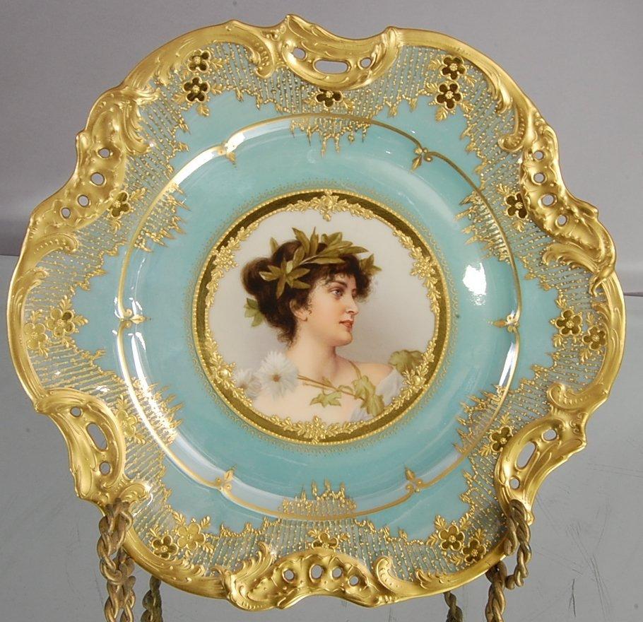 256: Royal Vienna Portrait Plate