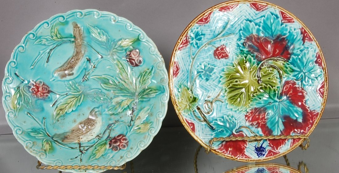 9: French Majollica Style Plates