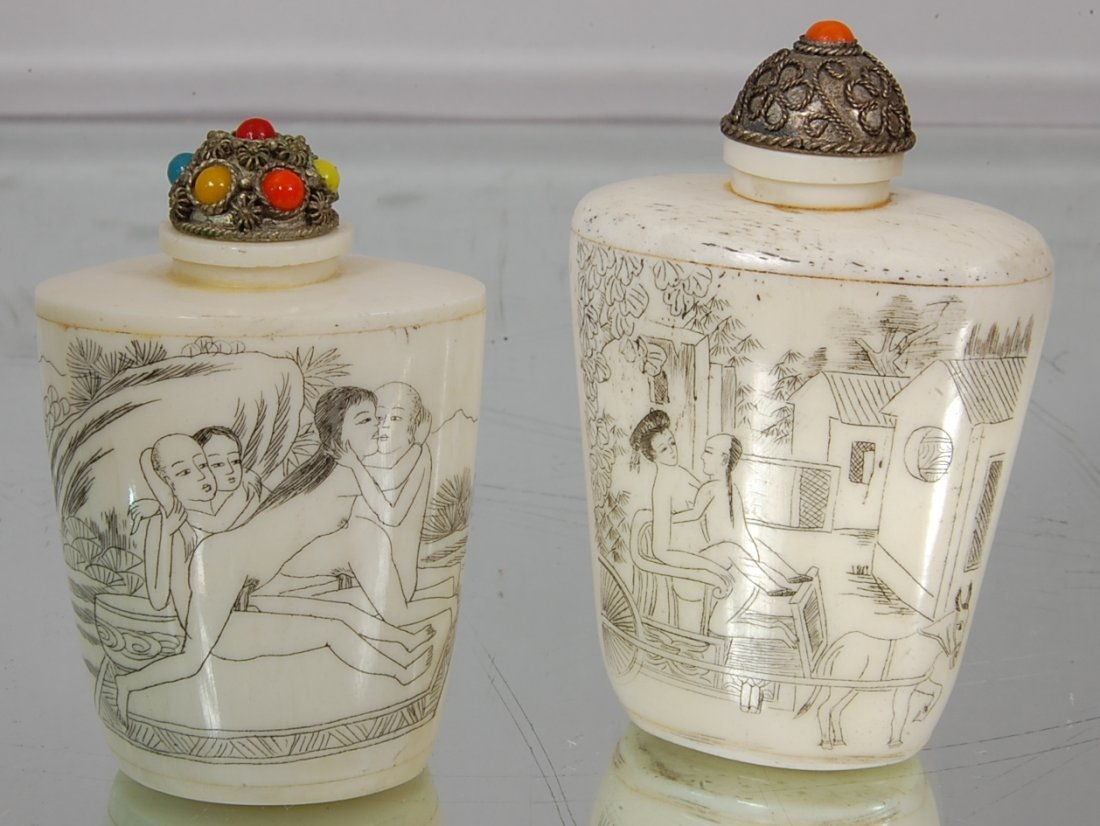 12: Pair of Erotic Chinese Snuff Bottles