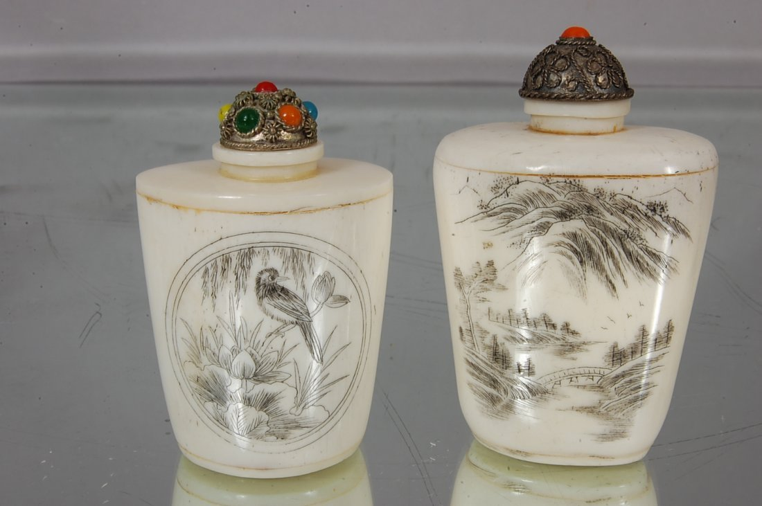 12: Pair of Erotic Chinese Snuff Bottles - 2