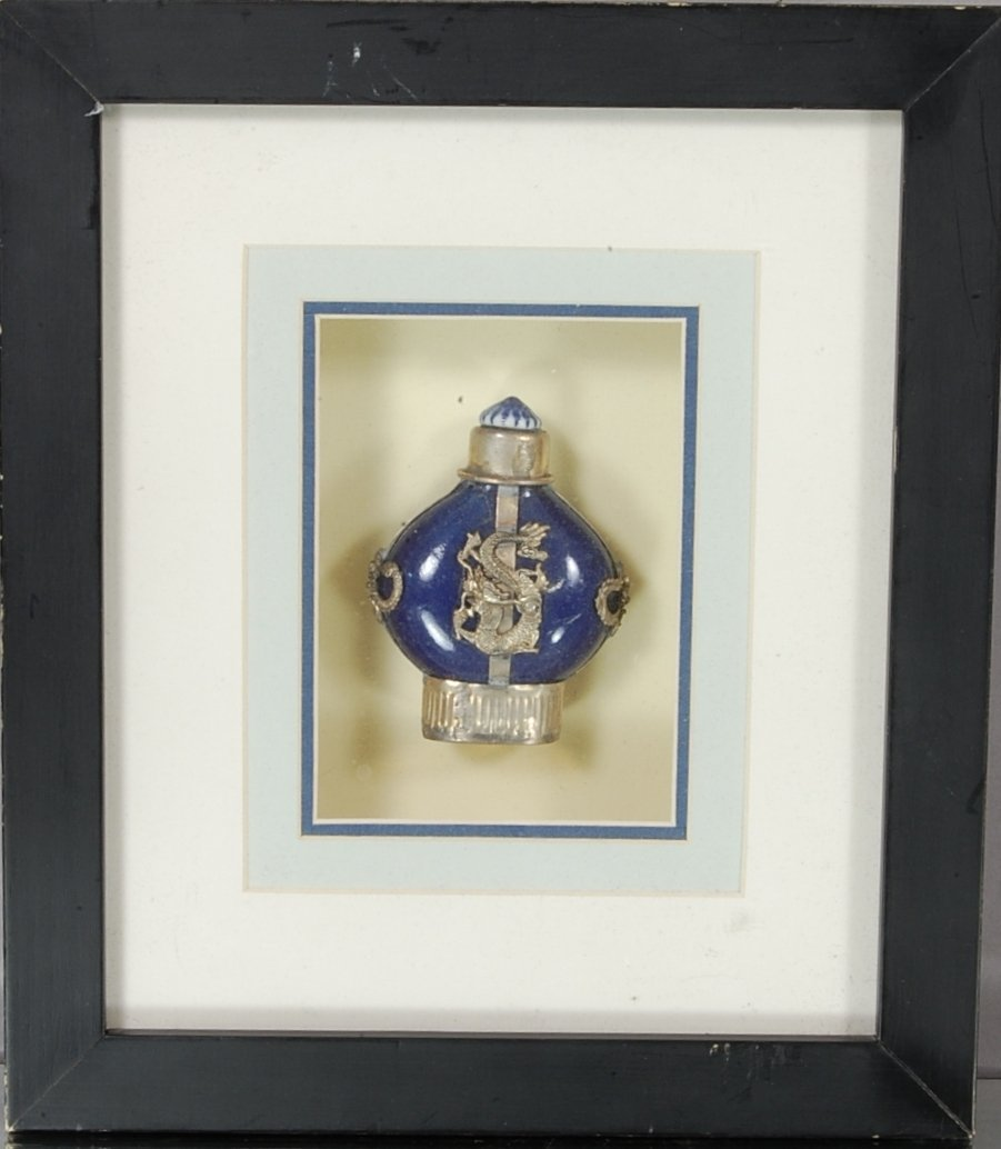 13: Chinese Snuff Bottle mounted in frame