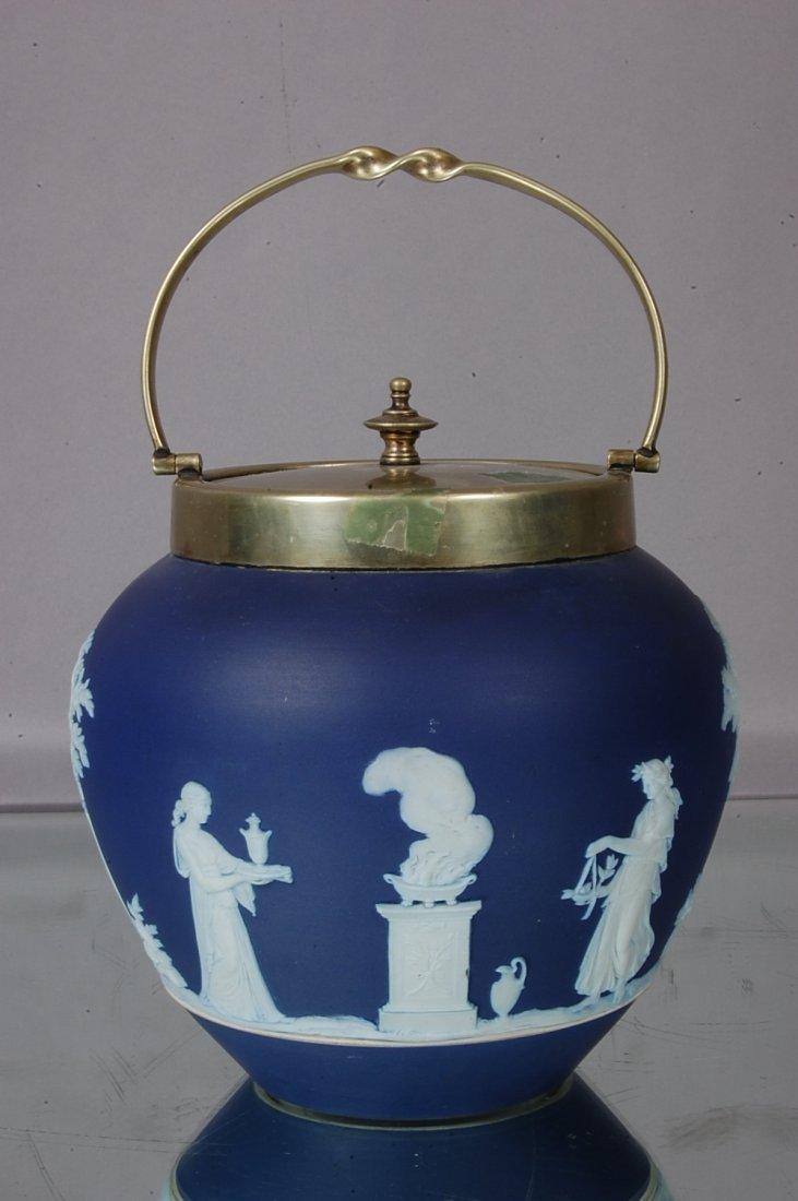 20: Wedgewood Blue Jasperware Biscuit Jar
